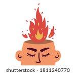 vector illustration of anger ... | Shutterstock .eps vector #1811240770