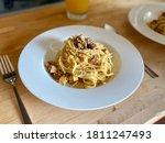 Homemade Spaghetti Carbonara...