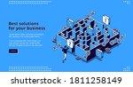 best business solutions... | Shutterstock .eps vector #1811258149