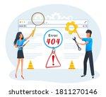 vector  404 error page concept. ...