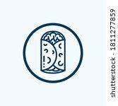 mexican burritos icon. outline... | Shutterstock .eps vector #1811277859