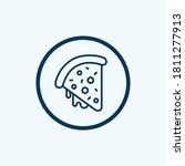 pepperoni pizza slice icon.... | Shutterstock .eps vector #1811277913