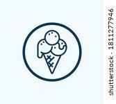 ice cream icon isolated on... | Shutterstock .eps vector #1811277946