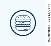 hamburger icon isolated on... | Shutterstock .eps vector #1811277949