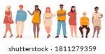 overweight people vector... | Shutterstock .eps vector #1811279359