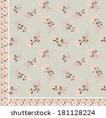 vector pattern with small pink... | Shutterstock .eps vector #181128224