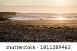 Panorama Of Ocean Beach With...