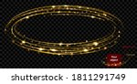 glowing fire ring with glitter... | Shutterstock .eps vector #1811291749