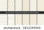 set of 12 vector seamless... | Shutterstock .eps vector #1811293543