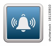 ringing bell  button  | Shutterstock .eps vector #181130810