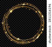 glowing fire ring with glitter... | Shutterstock .eps vector #1811316196