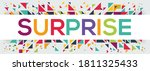creative colorful  surprise ... | Shutterstock .eps vector #1811325433
