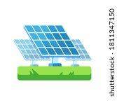 solar panel icon  illustration... | Shutterstock .eps vector #1811347150