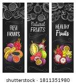 exotic fruits vector banners... | Shutterstock .eps vector #1811351980