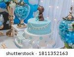Baby Shower Boy Cake  Teddy...