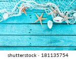 Delicate Nautical Border With...