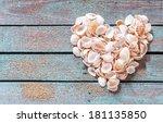 Beautiful Seashell Heart Formed ...