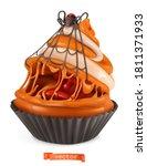 halloween cupcake. funny sweet...   Shutterstock .eps vector #1811371933