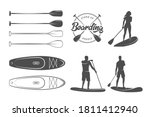 sup boarding design elements.... | Shutterstock .eps vector #1811412940