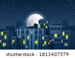 illustration of night cityscape ... | Shutterstock .eps vector #1811437579