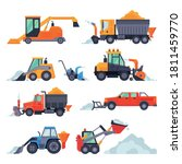 winter snow removal machines... | Shutterstock .eps vector #1811459770