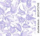 seamless floral pattern with... | Shutterstock .eps vector #1811471743