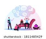 depressed young men and women... | Shutterstock .eps vector #1811485429