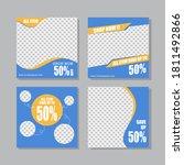 editable modern social media... | Shutterstock .eps vector #1811492866