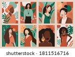 women portraits. female... | Shutterstock .eps vector #1811516716