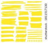 yellow marker stroke. highlight ... | Shutterstock .eps vector #1811517130
