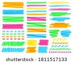 highlight marker lines.... | Shutterstock .eps vector #1811517133