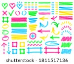 highlight markers. colorful... | Shutterstock .eps vector #1811517136