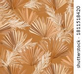 tropical vector dry palm leaves ... | Shutterstock .eps vector #1811518420