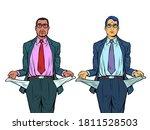 bankrupt african and caucasian... | Shutterstock .eps vector #1811528503