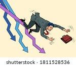 the businessman falls. charts... | Shutterstock .eps vector #1811528536