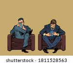 two businessmans uses a... | Shutterstock .eps vector #1811528563