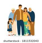 smiling asian family standing... | Shutterstock .eps vector #1811532043
