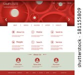 website template with dotted... | Shutterstock .eps vector #181155809