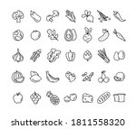 healthy food vector icons. hand ...   Shutterstock .eps vector #1811558320
