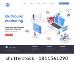 outbound marketing isometric...   Shutterstock .eps vector #1811561290