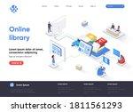 online library isometric... | Shutterstock .eps vector #1811561293