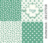 Set Of Mint Green Backgrounds...