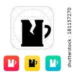 broken beer mug icon.