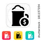 mug of beer with dollar icon.