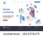 mobile marketing agency... | Shutterstock .eps vector #1811576179