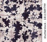 dark purple and beige floral...   Shutterstock . vector #1811589799