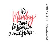 it's monday  time to sparkle... | Shutterstock .eps vector #1811591026