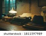 Office Desk With Vintage...