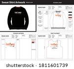 sweatshirt artwork with...   Shutterstock .eps vector #1811601739