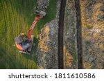 Aerial Drone View Of Geothermal ...